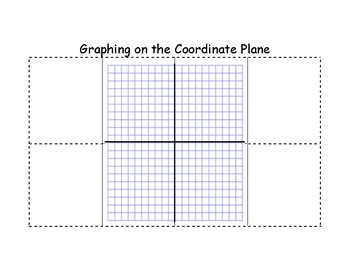 Interactive Notebook Activity (Graphing on the Coordinate Plane