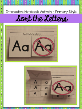 Interactive Notebook Activity {Sort the Letters} Primary Style