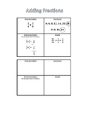 Interactive Notebook - Adding Fractions