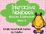 Interactive Notebook- Addition & Subtraction Grade 2 Foldables and Pockets!