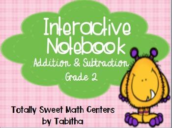 Interactive Notebook- Addition & Subtraction Grade 2 Folda