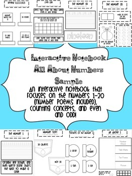 Interactive Notebook All About Numbers Sample