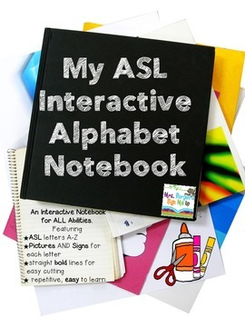 Interactive Notebook American Sign Language and the Alphabet