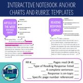 Interactive Notebook Anchor Charts and Rubrics