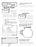 Interactive Notebook: Ancient Civilizations, Chapter 7 - The Ancient Greeks