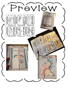 Interactive Notebook- Ancient Civilizations Unit 4 Ancient Greece