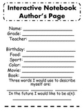 Interactive Notebook Author's Page