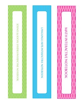 Interactive Notebook Binder Covers (5th Grade)