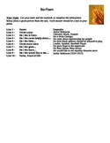 Interactive Notebook Bio Poem Activity