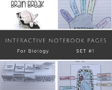 Interactive Notebook Biology Science Set #1