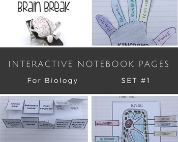 Interactive Notebook Biology Science Set #1