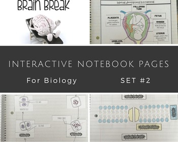 Interactive Notebook Biology Science Set #2