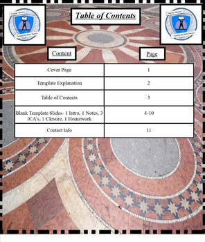 Interactive Notebook Blank Template Pages- Budapest Spiral Design
