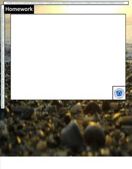 Interactive Notebook Blank Template Pages- Catalina Island Beach