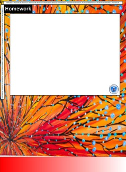 Interactive Notebook Blank Template Pages- Fiery Blossom