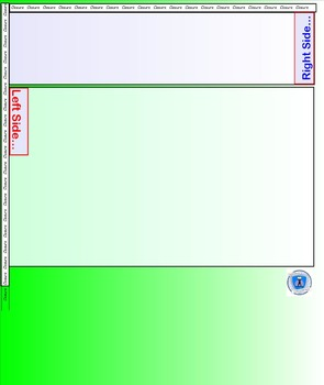 Interactive Notebook Blank Template Pages- Green/White