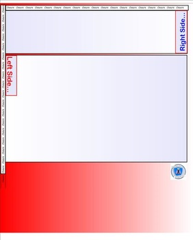 Interactive Notebook Blank Template Pages- Red/White