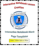 Interactive Notebook Blank Template Pages- Yellow/White