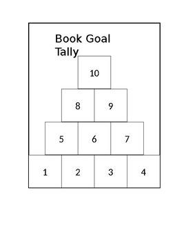 Interactive Notebook Book Goal Tally
