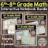 6th, 7th, and 8th Grade Math Interactive Notebook Bundle D