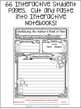 Interactive Notebook Bundle: 3rd Grade {Cover ALL CCSS RL & RI Standards!}