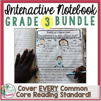 Interactive Notebook Bundle: 3rd Grade {Cover ALL CCSS RL