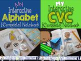 Alphabet & CVC Words Interactive Notebook Bundle (Distance