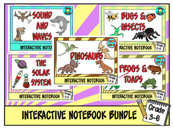 Science Interactive Notebook Bundle Grade 3-6