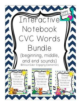 Interactive Notebook CVC Word Bundle