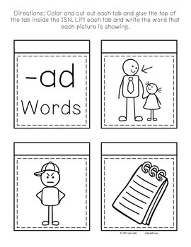 Interactive Notebook - CVC Words - Short A