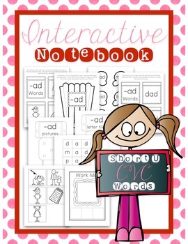 Interactive Notebook - CVC Words - Short U