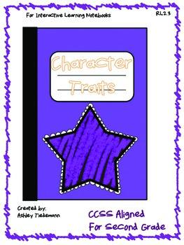 Interactive Notebook: Character Traits RL 2.3 Second Grade