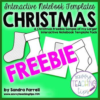 Interactive Notebook Christmas Freebie