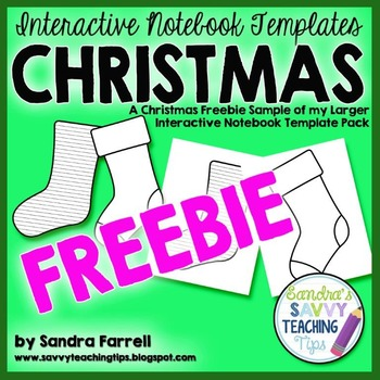 Interactive Notebook Christmas Freebie