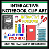 Interactive Notebook Clip Art Set: Color and Black Line Versions Included!