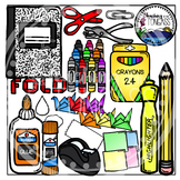 Interactive Notebook School Supplies Clipart (School Clipart)