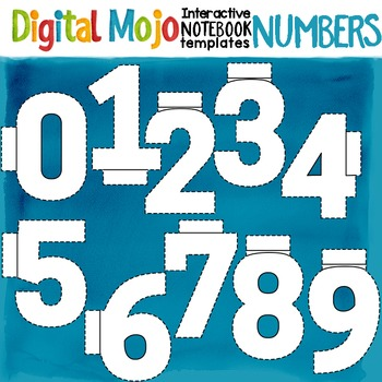 Interactive Notebook Clipart Templates Numbers