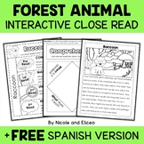 Forest Animal Close Reading Interactive Notebook