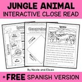 Jungle Animal Close Reading Interactive Notebook