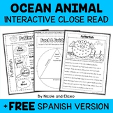 Close Reading Interactive Notebook - Ocean Animals