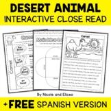 Close Reading Interactive Notebook - Desert Animals