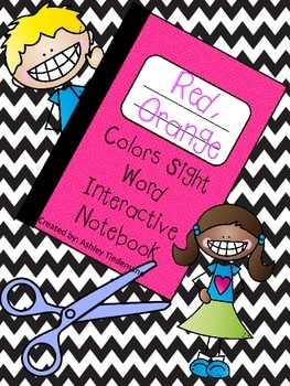 Interactive Notebook Color Sight Words