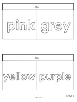 Interactive Notebook - Color Words and Number Words