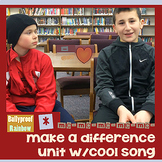 Make a difference interactive notebook with song: communit