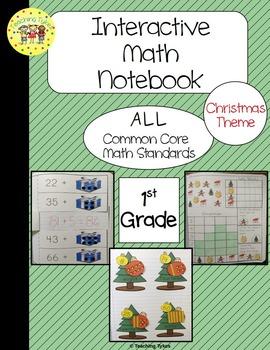Christmas Interactive 1st Grade Math Notebook