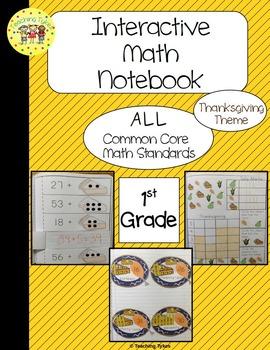 Thanksgiving Interactive 1st Grade Math Notebook