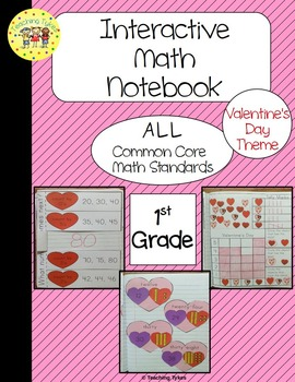 Valentine's Day Interactive 1st Grade Math Notebook