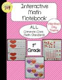 Valentine's Day Interactive 1st Grade Math Notebook