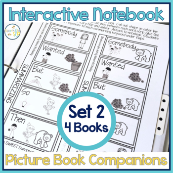 Speech Language and Literacy Interactive Notebook Book Companions