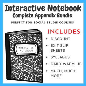 Interactive Notebook Complete Appendix Bundle (History Course)